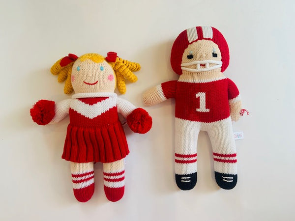 Red Cheerleader & Football Player