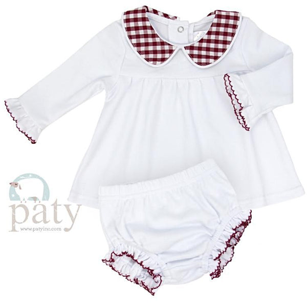 Red Gingham Diaper set