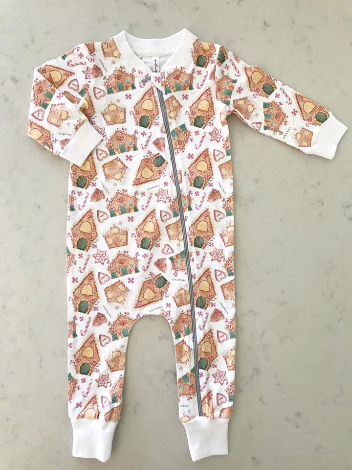 Gingerbread House Zipper Lounge Wear