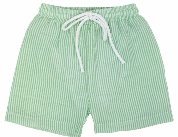 Seersucker Swim Trunks