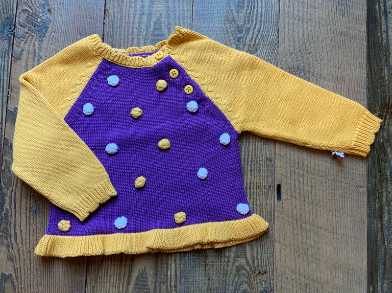 Purple & Gold Varsity Sweater