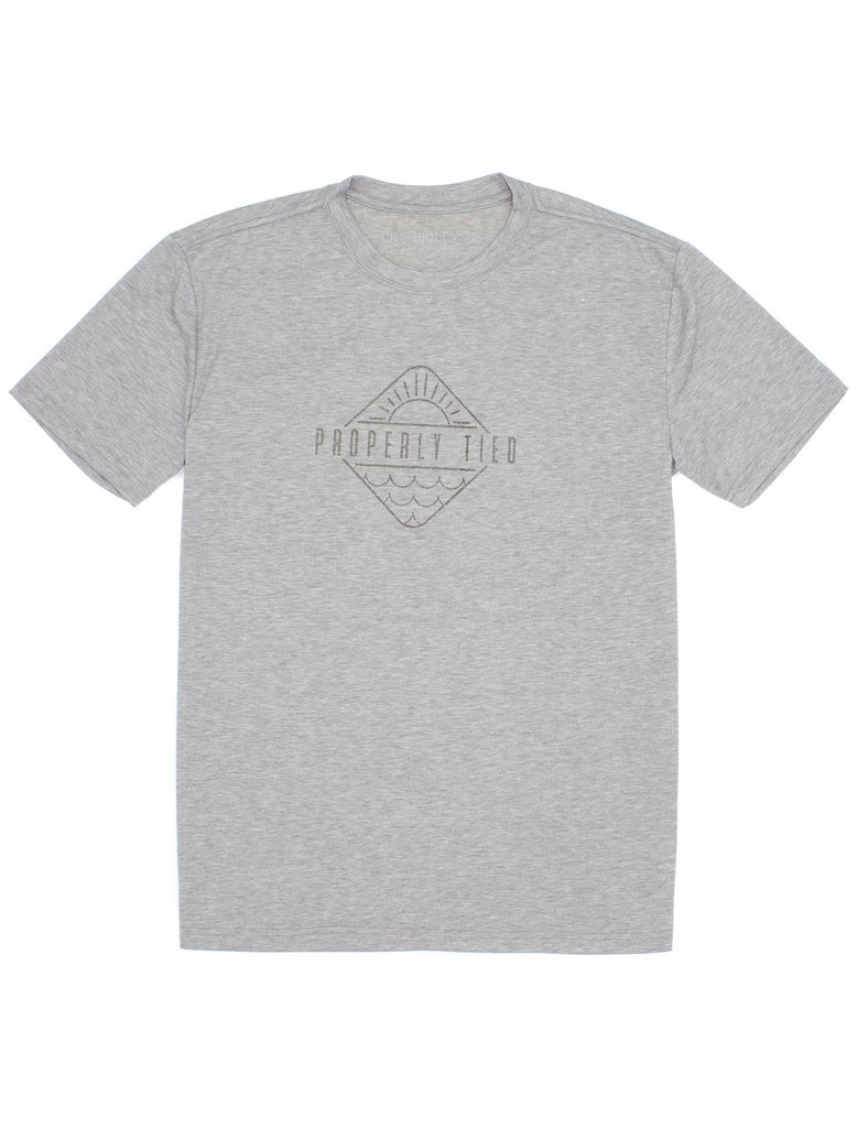 Logo Portland Grey Short Sleeve Performance/ Swim Tee