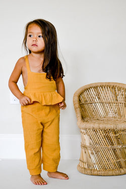 Amelia Wheat Ruffle Jumper