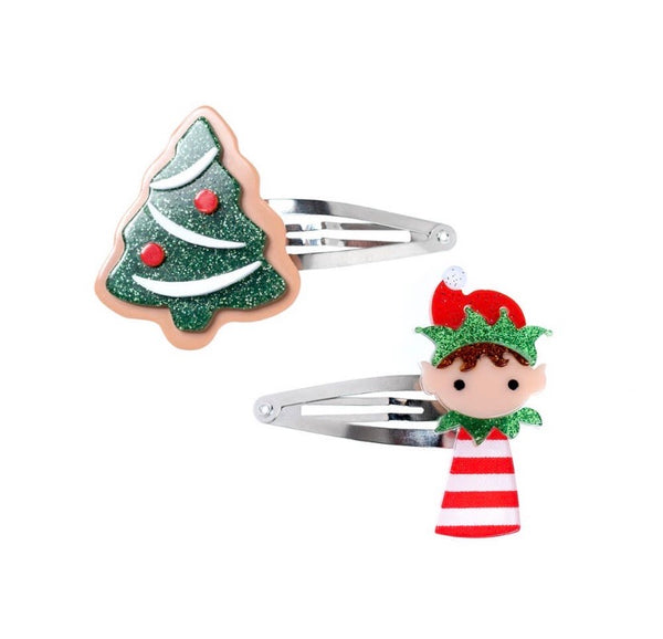 Christmas Tree & Elf Hair Clips