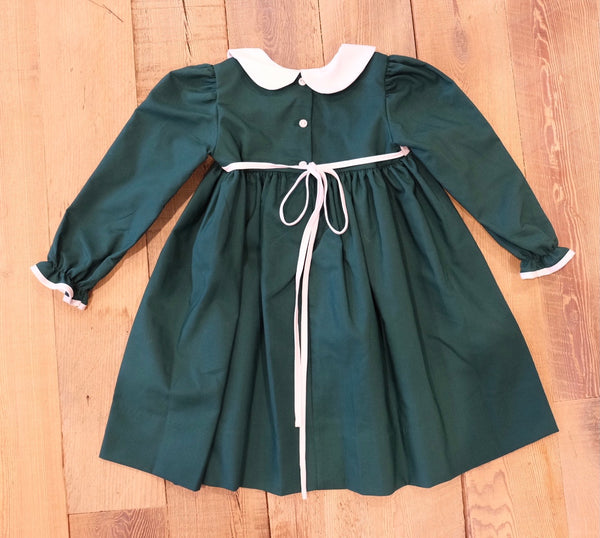 Emerald Green Oxford Dress