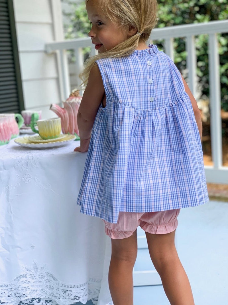 George Plaid Ruffle Set