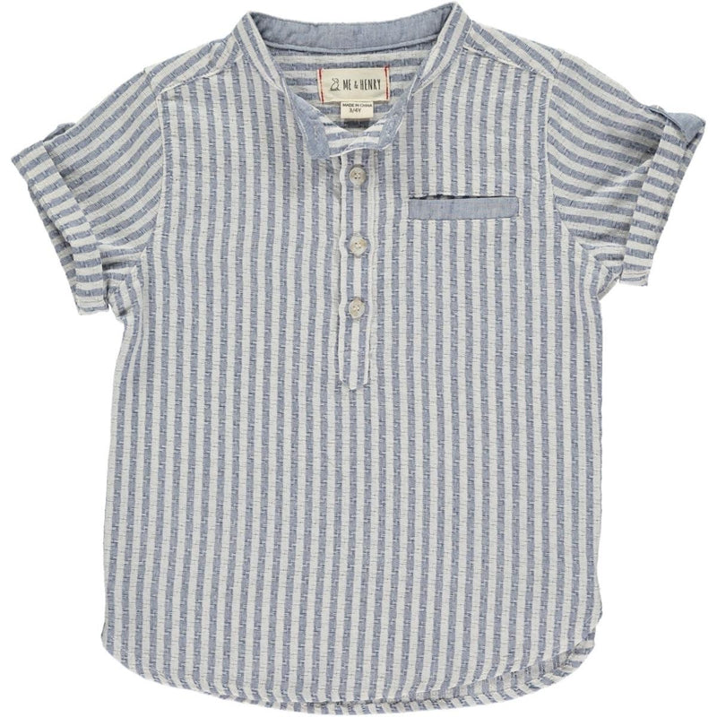 Blue Striped Woven Shirt