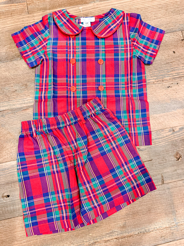 Tartan Plaid Short Set