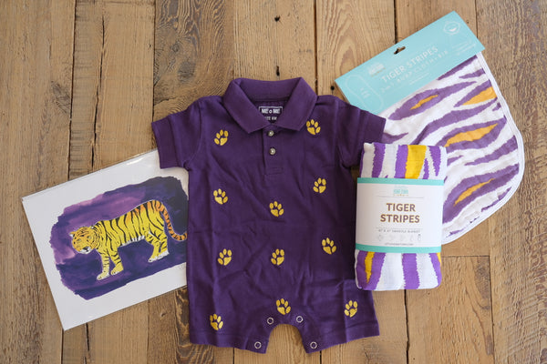 Purple Paw Print Shortall