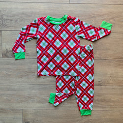 Holly Plaid Two Piece Loungewear