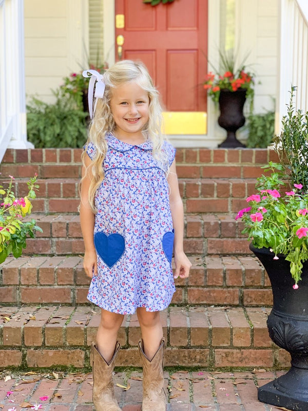 Mary Floral Heart Dress