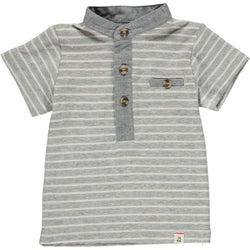 Grey Striped Henley