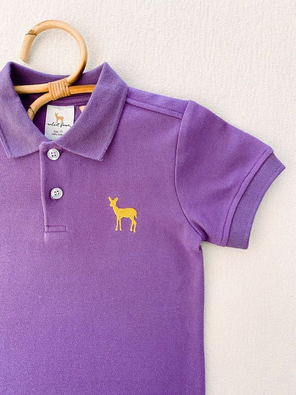 Mack Polo- Purple/Yellow