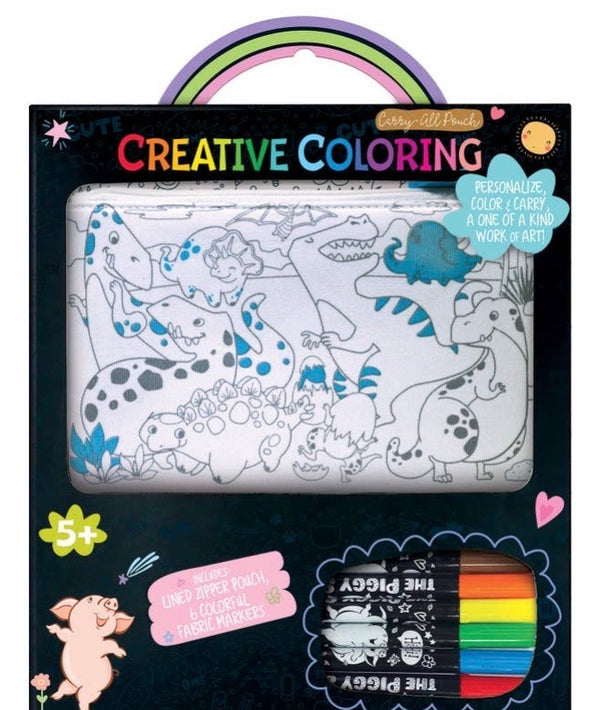 Creative Coloring: Carry All Pouch- Dinosaur World