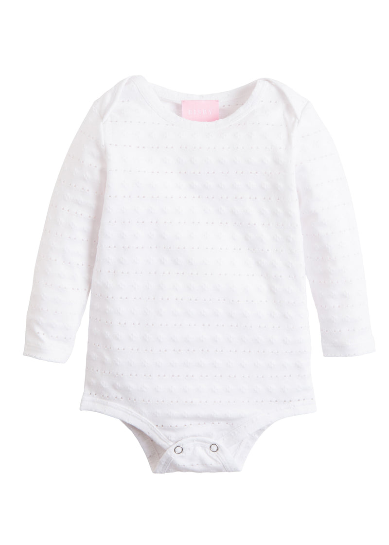 White Pointelle Onesie
