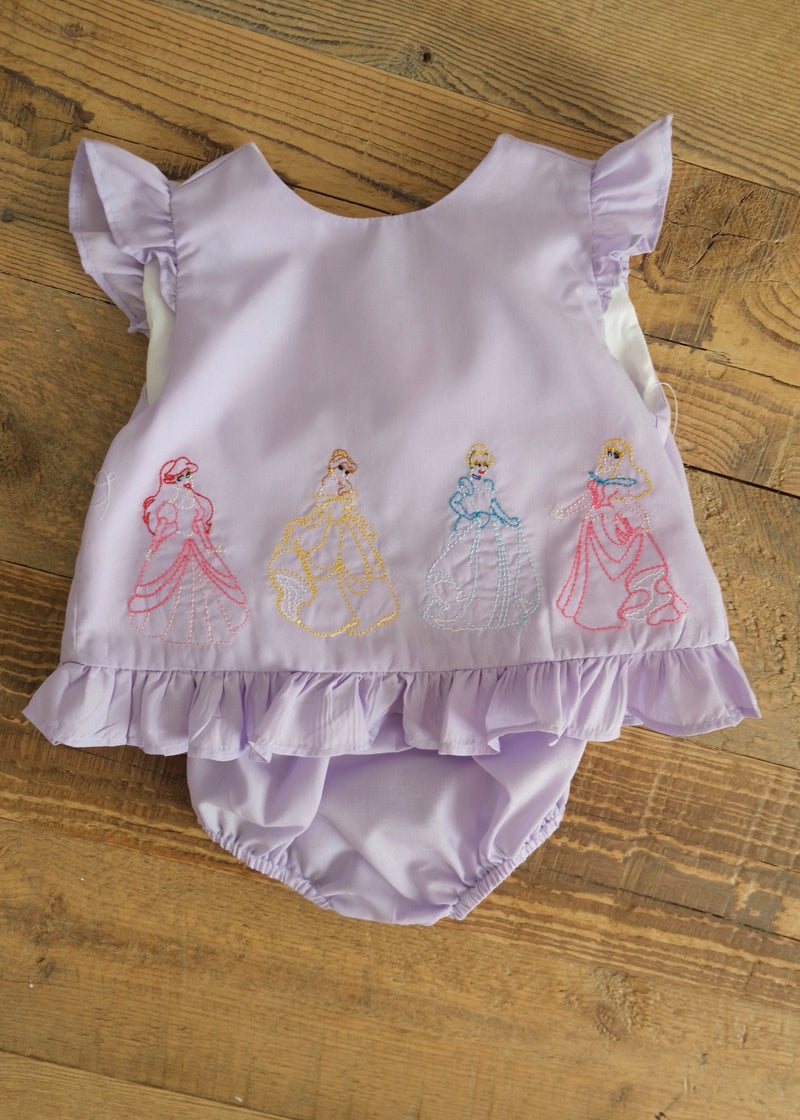 Princess Embroidered Bloomer Set