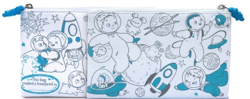 Creative Coloring: Carry All Pouch- Space Adventure
