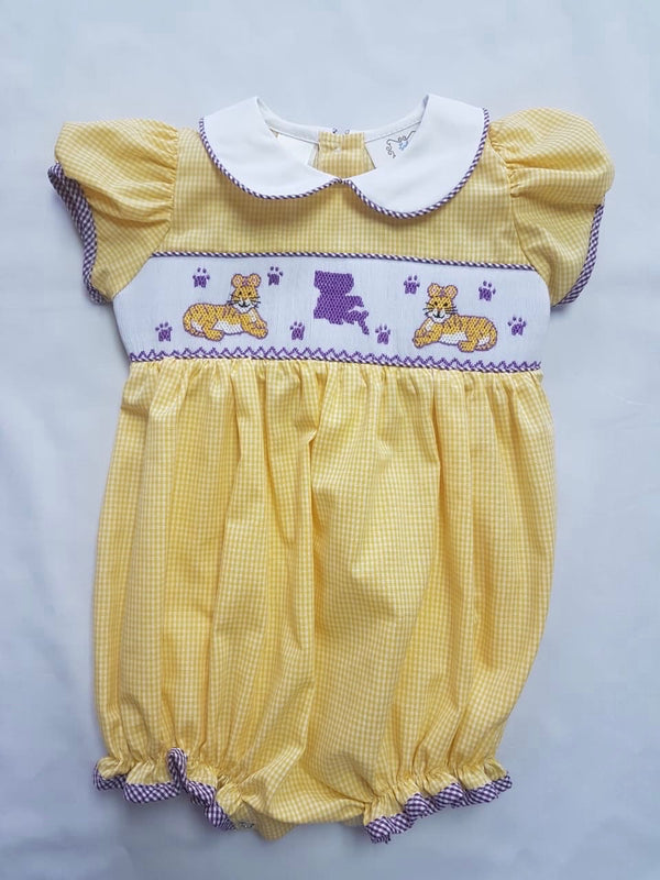 Yellow Gingham Tiger Bubble