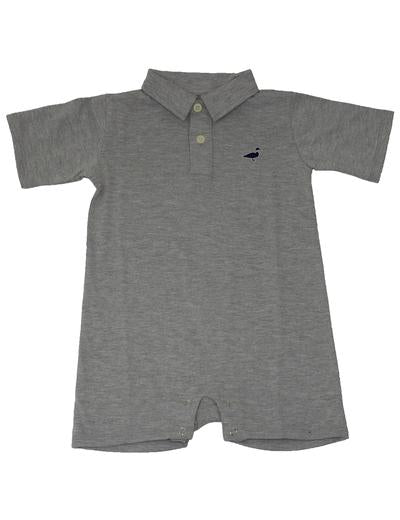 Louis Polo Shortall- Heather Grey