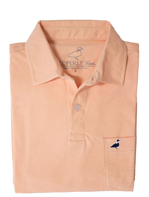 Heathered Pocket Polo