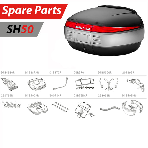 SHAD SH50 Top Box Spare Parts