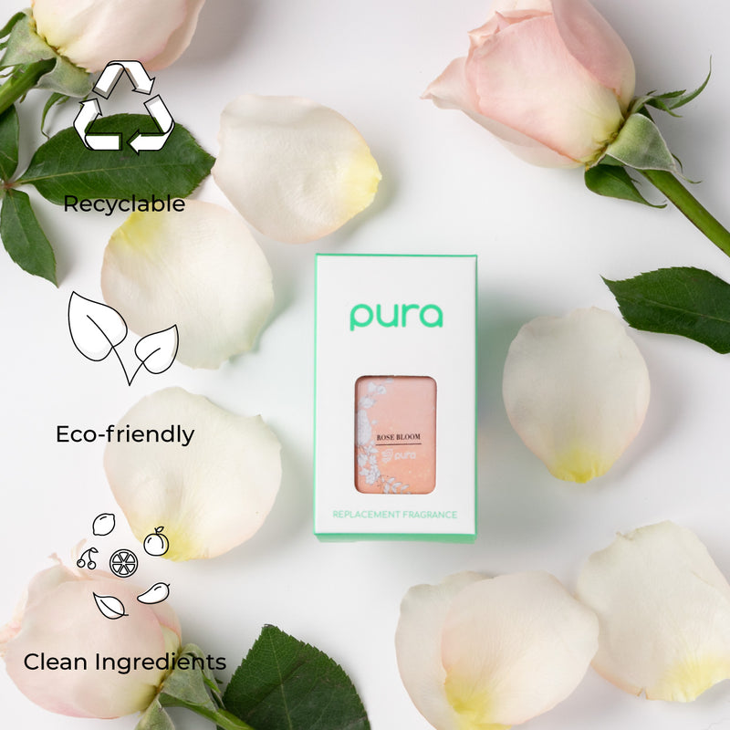Pura fragrances are recyclable, eco-friendly and have clean ingredients