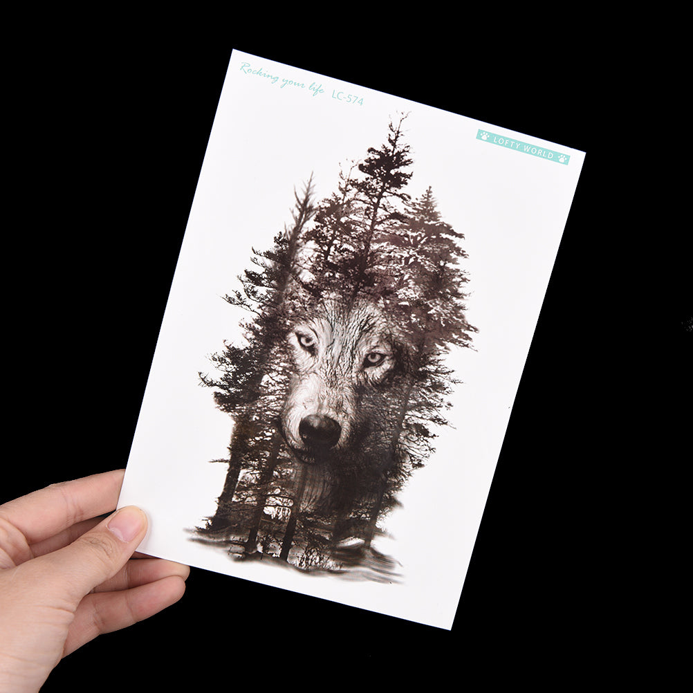 Forest Wolf Temporary Tattoo