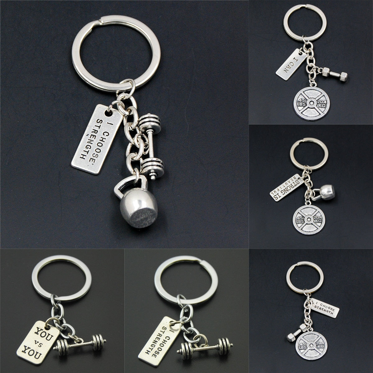 Fitness Motivation Keychains