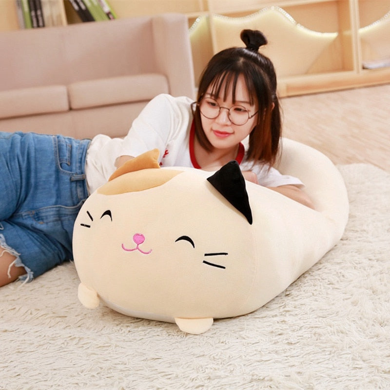 SQUISHY CHUBBY CUTE CAT PLUSH TOY