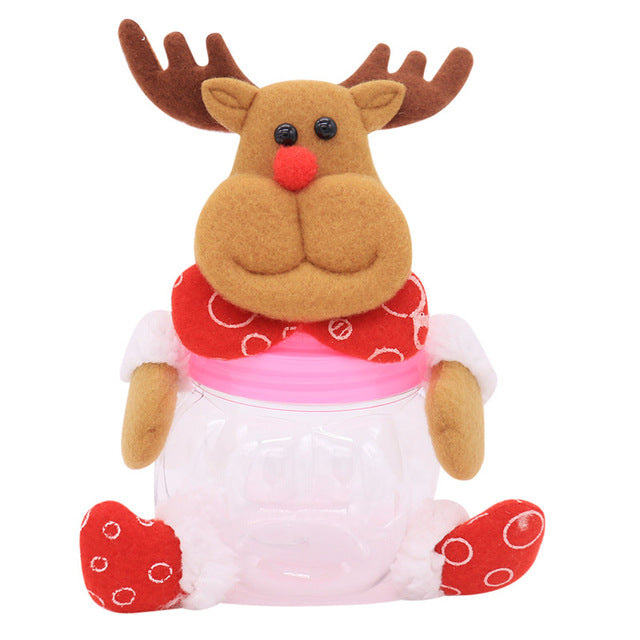 Cute Christmas Candy Storage Jar