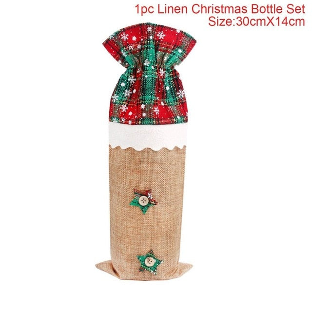 Wine Bottle Covers - Christmas Decorations