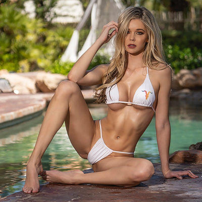 Ignite Premium Collection Classic White and Rainbow Bikini - ignite-merch