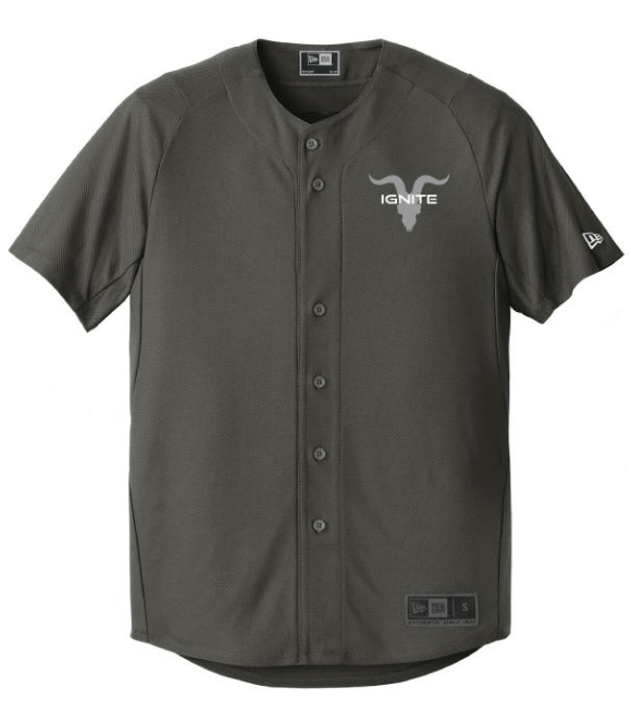 Goat Skull Pocket Baseball Jersey - Graphite with Grey Logo