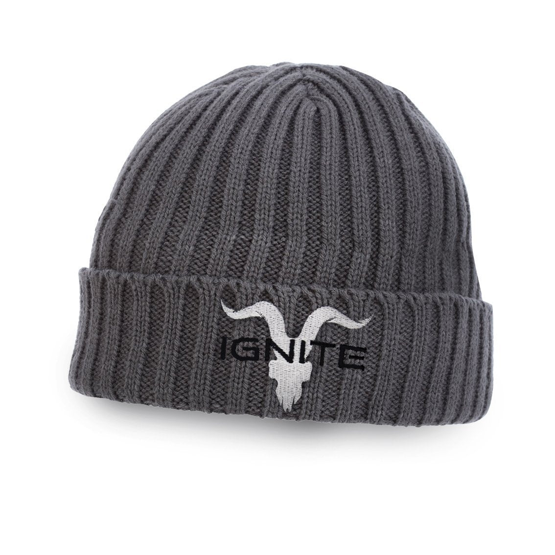 Ignite Premium Collection Charcoal Beanie - ignite-merch