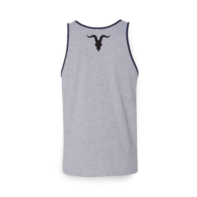 Jersey Sleeveless Shirt - Grey with Navy Lining