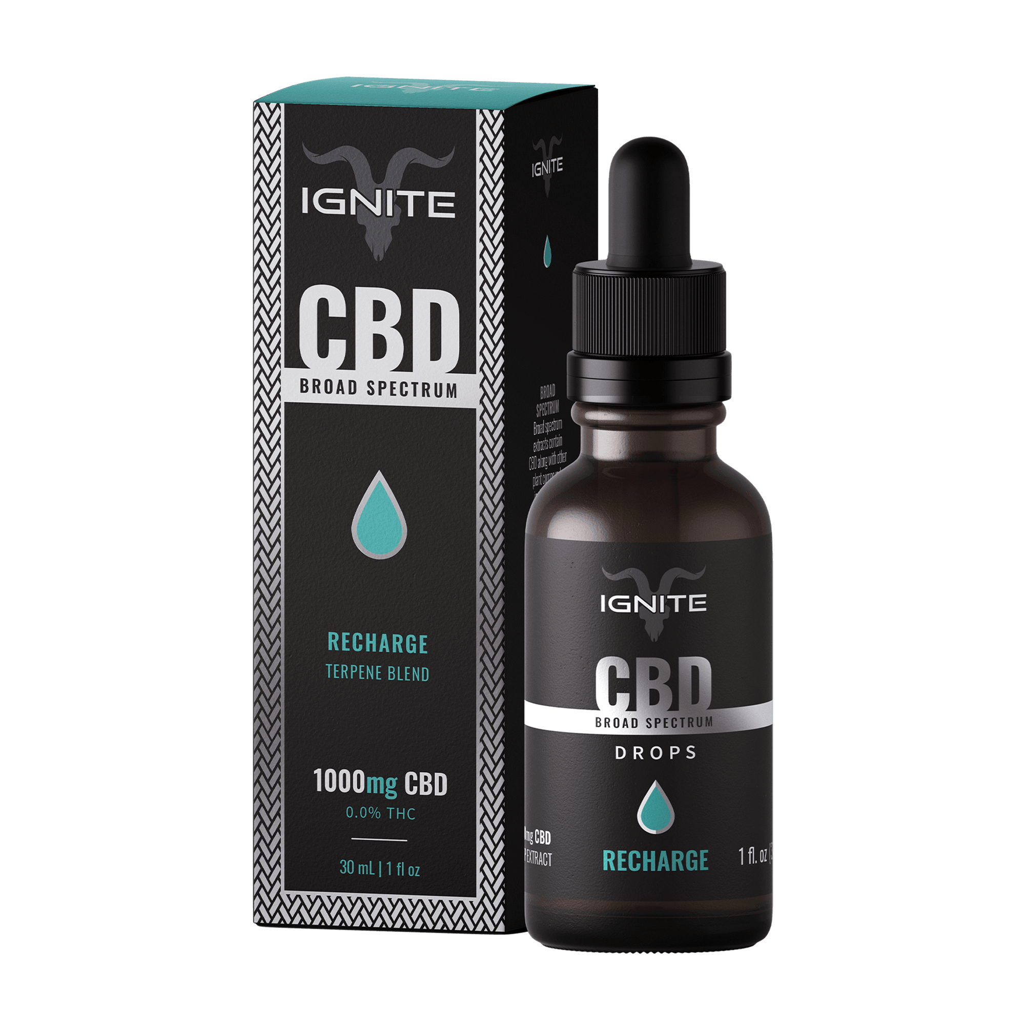 1000MG Broad Spectrum CBD Oil Drops [Recharge]