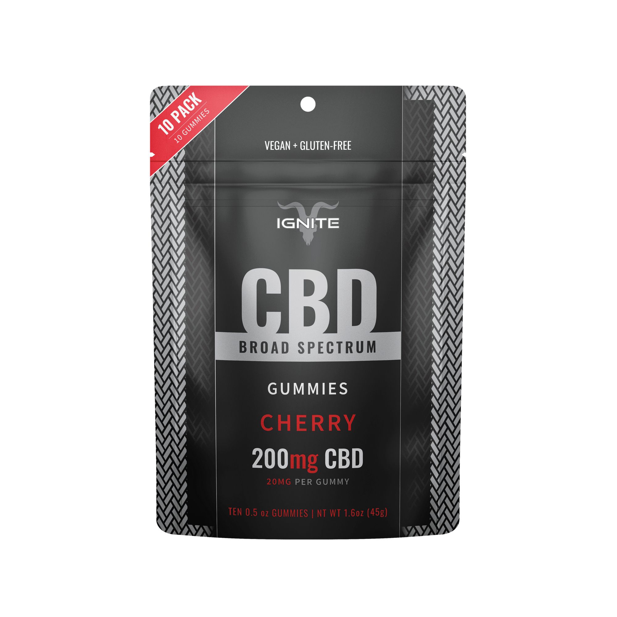200MG Broad Spectrum CBD Gummies - Cherry [10CT]