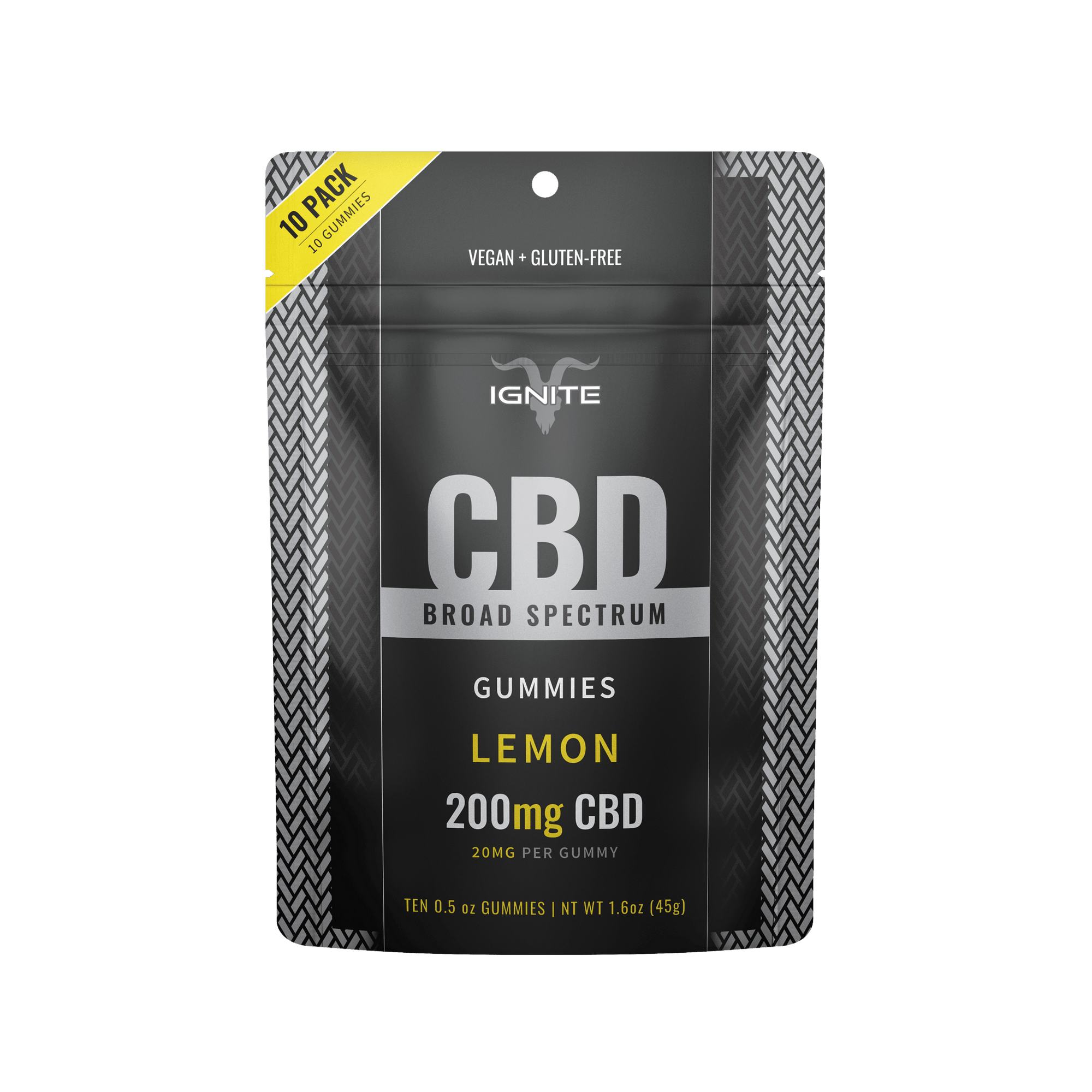 200MG Broad Spectrum CBD Gummies - Lemon [10CT]