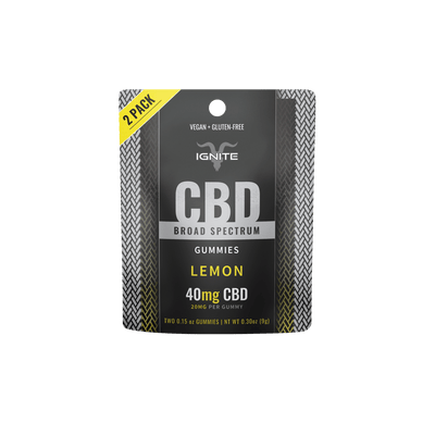 40MG Broad Spectrum CBD Gummies - Lemon [2CT]