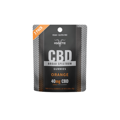 40MG Broad Spectrum CBD Gummies - Orange [2CT]