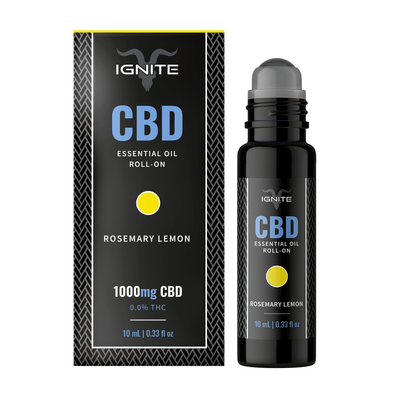 1000MG CBD Roll-On Oil - Rosemary-Lemon