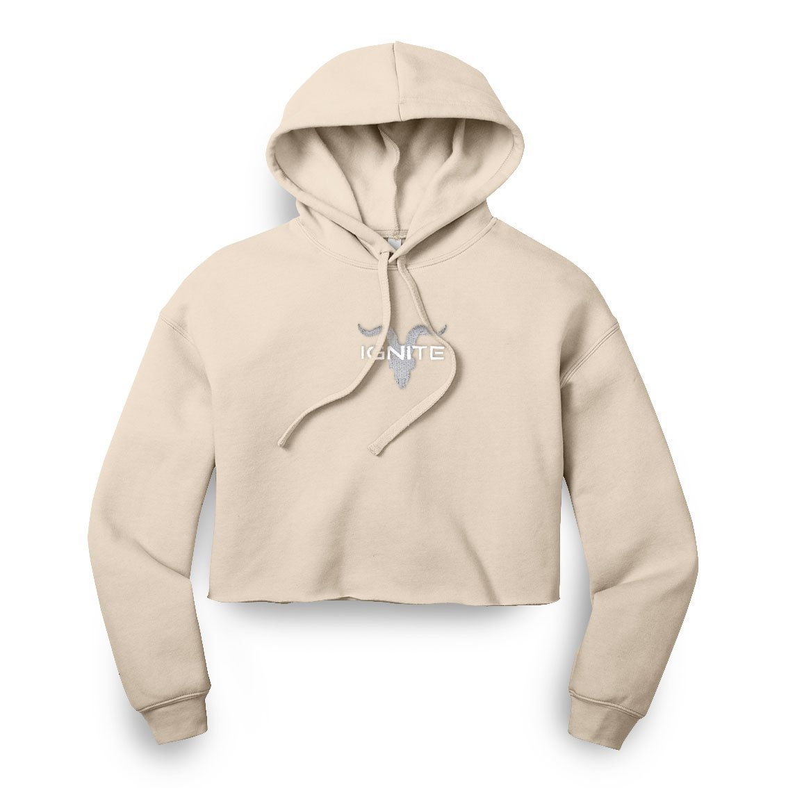 Ladies Heather Dust Cropped Hoodie