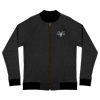 Bomber Jacket Black With Grey Logo