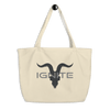 Large Organic Tote Bag - Khaki