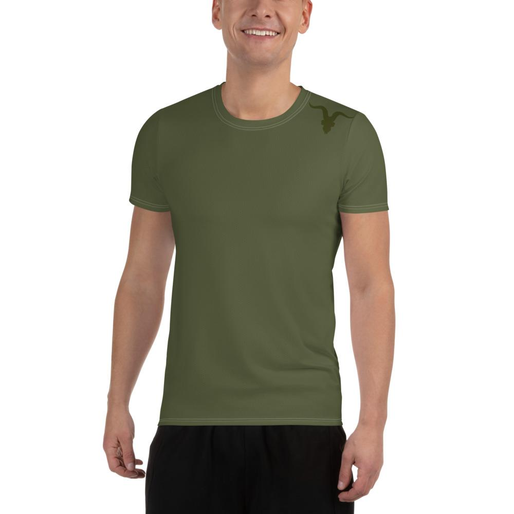 Men's Athletic T-shirt - Army Green