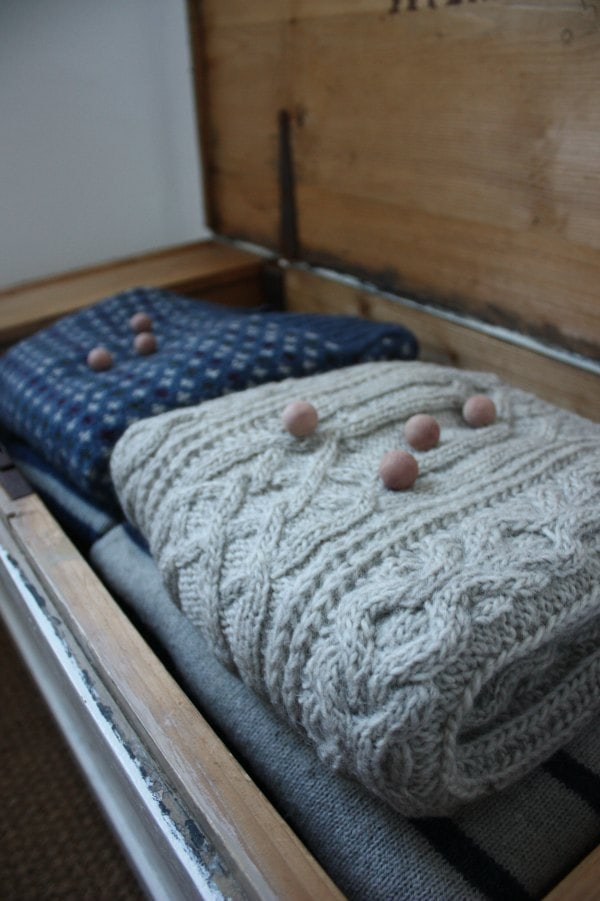 cedar balls to keep moths away from your knitwear