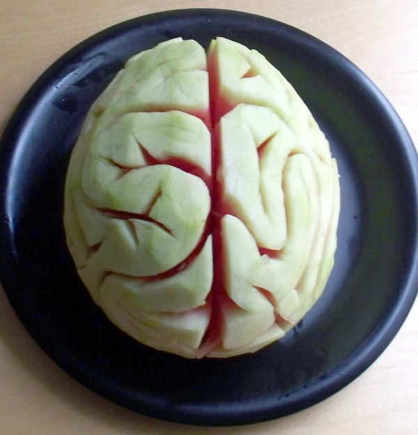 watermelon brain hallowen healthy treats