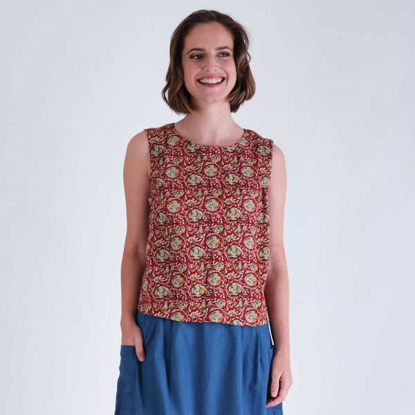 Pipa Paisley Sleeveless Top