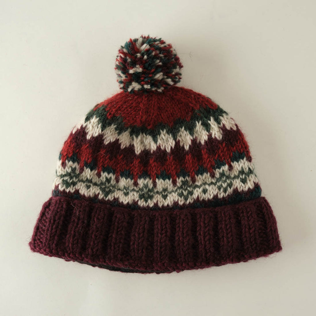 Astrid Fair Isle Knitted Bobble Hat