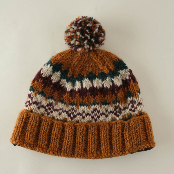 Astrid Fair Isle Wool Bobble Hat